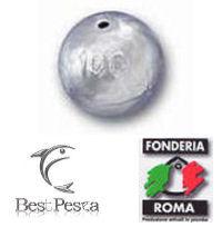Piombo SFERA foro passante Fonderia Roma 12 pezzi 10gr