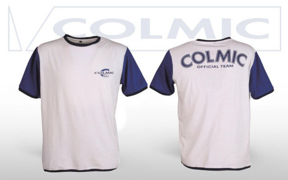 T-SHIRT COLMIC WHITE-BLUE - XXL